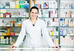 pharmacist in front desk