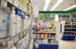 pharmacy products in the pharmacy